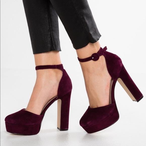 8981665308f Steve Madden cordial burgundy suede heels 6.5 new